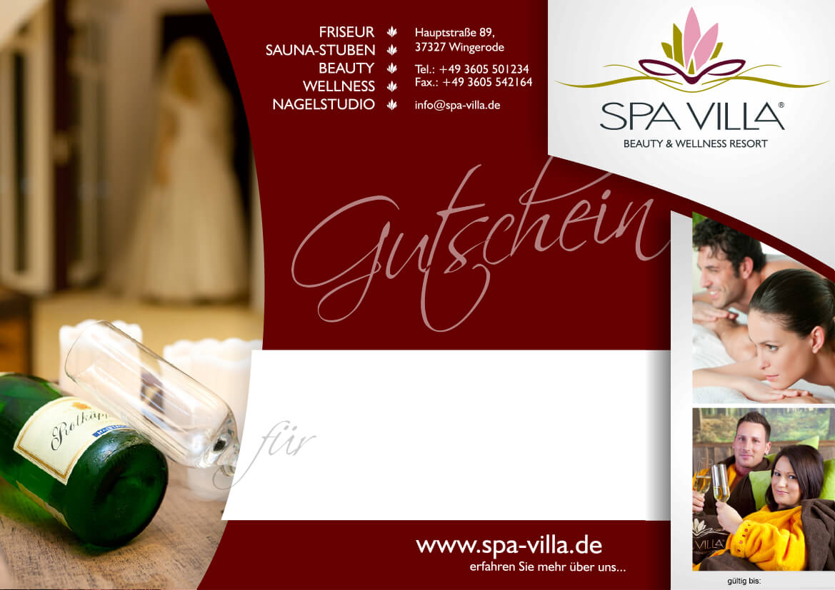 Spa wellness gutschein  Exklusiv Wellness Weekend - Wellnesshotel Thüringen: SPA VILLA ...
